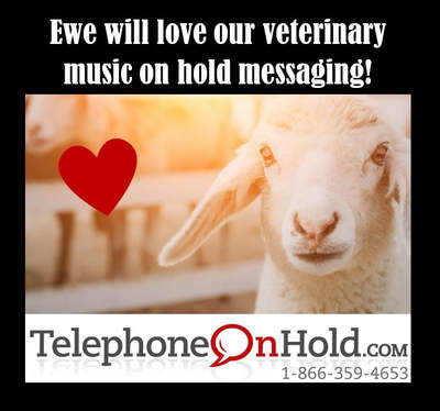 Ewe will love veterinary music on hold messaging from TelephoneOnHold.com!