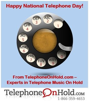 National Telephone Day Telephone On Hold