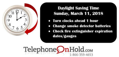 Daylight Saving Time Reminder from Telephone On Hold